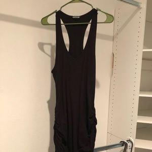 Express black ruched dress